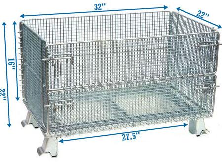 junior wire container dimensions