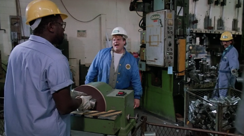 wire containers in tommy boy